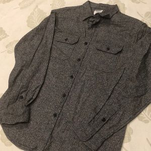 Gray old navy warm button down shirt